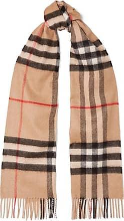 burberry karierter kaschmirschal mit fransen camel - Schal Burberry Muster