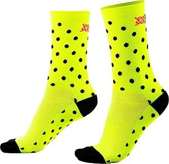 Hupi Meia Hupi Amarelo Neon Dots - Lt para pés menores 34-38, Cor: Amarelo Neon, Tamanho: Lt (34-38)