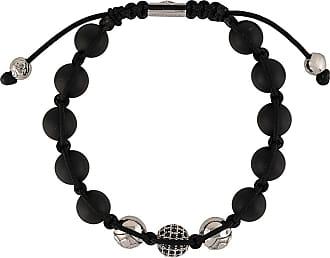 Nialaya corded beaded bracelet - Black