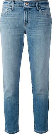 J Brand Calça jeans reta cropped - Azul