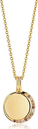 Sif Jakobs Jewellery Pendant Portofino - 18k gold plated with yellow zirconia