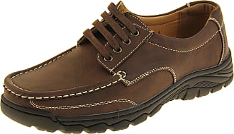Footwear Studio Shoreside Mens Faux Leather Shoes Brown UK 11