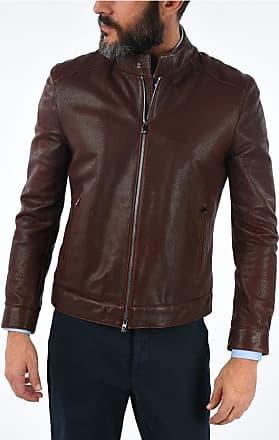 Corneliani Full Zip Lamb Leather Jacket size 58