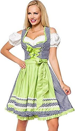 Dirndl Tracht Kleid Trachtenkleid Dirndlkleid Oktoberfest Karo Rot Blau S-XXL