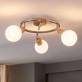 Lindby Glorieta de techo Svenka con efecto madera LED E14