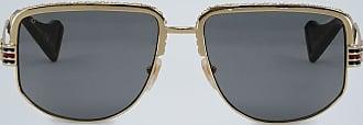 Gucci Web detail sunglasses gold