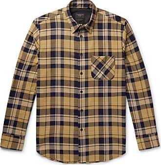 Rag & Bone Fit 3 Beach Checked Herringbone Cotton-blend Shirt - Yellow