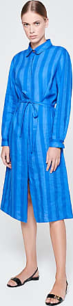 Escada Sport Linen Stripe Shirt Dress