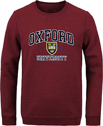 Oxford University Official Licensed Applique Sweatshirt (X-Large, Burgundy/Maroon)