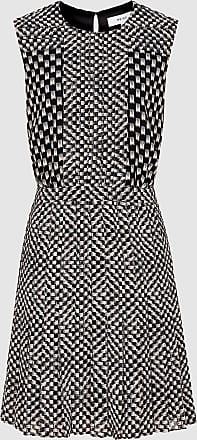 Reiss Nancy - Printed Day Dress in Black/white, Womens, Size 12