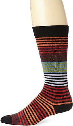 Ozone Mens Stripy Sock, Black, Sock Size:10-13/Shoe Size: 6-12