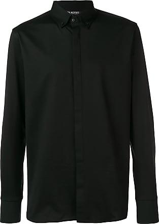 Neil Barrett Camisa com botões na gola - Preto