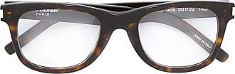 Saint Laurent Eyewear Óculos com armação retângular - Marrom