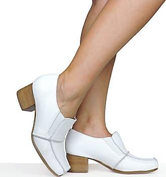 Dina Mirtz Sapato Branco Costuras Dina Mirtz