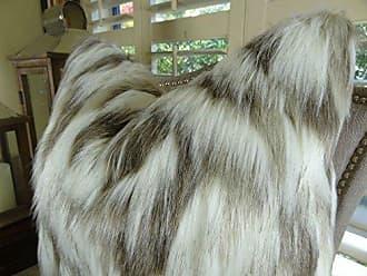 Plutus Brands Tibet Fox Handmade Throw Pillow 20 x 20 Ivory Beige