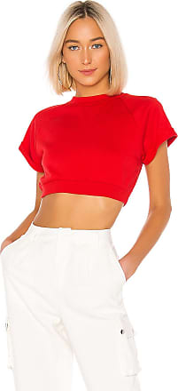 Superdown Tory Cropped Pullover in Red