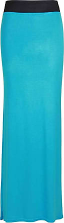 Crazy Girls Women Elasticated Gypsy Long Plain Printed Maxi Skirt.UK 8-26 (M/L-UK12/14, Turquoise)