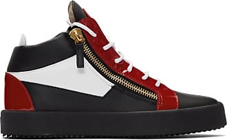 0fddc031abef6 Giuseppe Zanotti Red and Black Kriss High-Top Sneakers