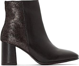 47ce3d8ceb9f1 Jonak Boots cuir à talon Exclusivité La Redoute - JONAK - Noir Acier