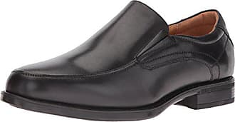 Florsheim Mens Medfield Moc Toe Slip-On Loafer Dress Shoe, Black, 8 D US