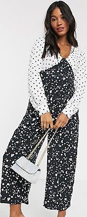 Asos Maternity ASOS DESIGN Maternity mixed spot print tea jumpsuit-Multi