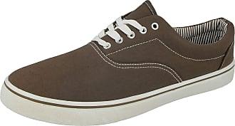 Urban Jacks Mens Harvard Low Top Canvas Lace Up Pumps Plimsoll Trainer Casual Shoes Size 7-12 (9 UK, Khaki)