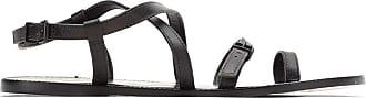 Osklen leather flat sandals - Black