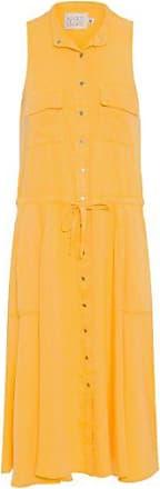 N.Y.B.D. Vestido Saia Rodada N.Y.B.D - Amarelo