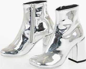 Maison Margiela MM6 9cm Laminate Leather Ankle Boot size 35