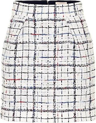 Alexandre Vauthier High-rise checked tweed miniskirt