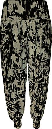 Top Fashion18 Top Fashion Womens Plus Size Printed Pattern Ladies Long Harem Pants Trousers 12-30