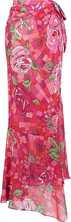 Amir Slama floral print skirt - PINK