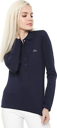 bf8fccdc0d Lacoste Camisa Polo Lacoste Slim Logo Azul-marinho