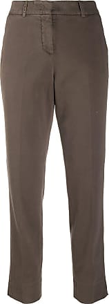 PESERICO cropped chino trousers - Marrom