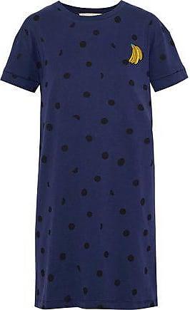 être cécile Être Cécile Woman Appliquéd Printed Cotton-jersey Mini Dress Navy Size XS