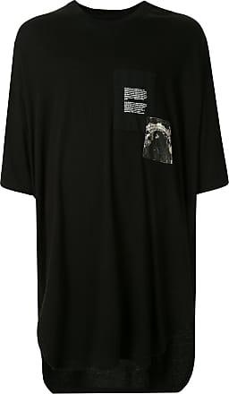 Julius Camiseta oversized com patchwork - Preto