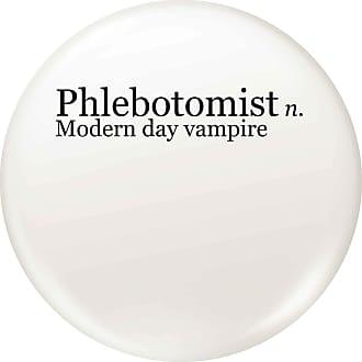 Flox Creative Small 25mm Pin Badge Phlebotomist Vampire