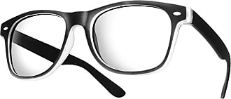 morefaz Mens Womens Original Fashion Party Retro glasses CLEAR LENS Unisex Vintage (Rubi Black) MFAZ Morefaz Ltd