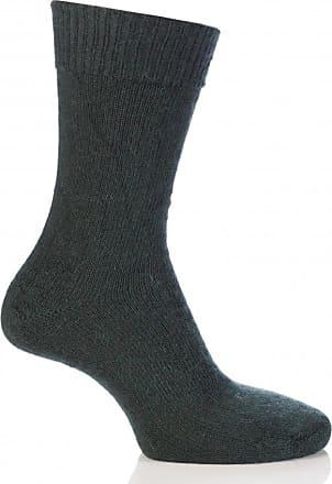 SockShop Mens & Ladies 1 Pair SockShop of London Mohair Plain Knit True Socks In 4 Colours - 8-10 Unisex - Green