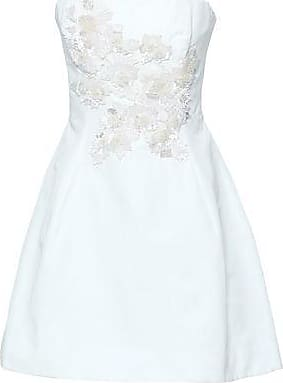 Marchesa Marchesa Notte Woman Strapless Sequin-embellished Cotton And Silk-blend Mini Dress White Size 14