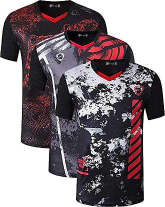 Jeansian Mens 3 Packs Sport Slim Quick Dry Short Sleeves Compression T-Shirt Tee LSL255_249_256 Black XL