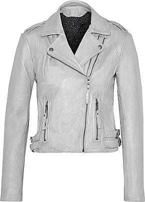 Joie Joie Woman Leolani Metallic Leather Biker Jacket Silver Size XS