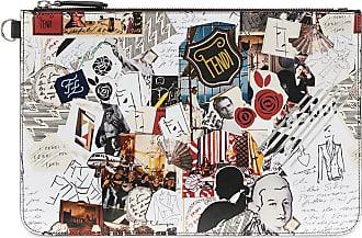 Fendi Clutch com estampa Karl Kollage - Estampado