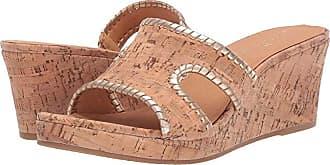 fc4bbe9206012 Jack Rogers Sloane Mid Wedge (Cork/Gold) Womens Wedge Shoes