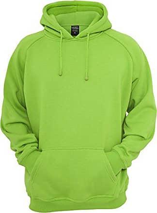 1f8f613e8f63b Urban Classics Bekleidung Pullover Blank Hoody - Pull Homme, Vert  (Limegreen) - Small