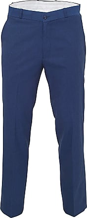 Relco Mens Classic Blue Tonic Stay Press Trousers Size 34
