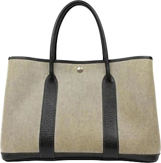 Hermès Garden Party Toile Tote 229862 Grey Coated Canvas Shoulder Bag c9b4ab0627e36