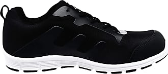 Groundwork MENS GROUNDWORK STEEL TOE CAP SAFTEY ULTRA LIGHT WEIGHT LACE WORK TRAINER SHOES BLK/WHT 13