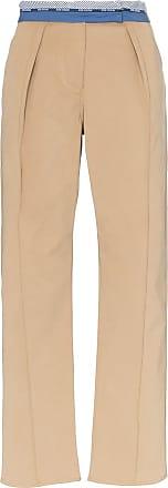 Rosie Assoulin Calça com cós contrastante - Neutro