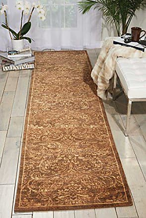 Nourison Silken Allure (SLK19) Chocolate Runner Area Rug, 2-Feet 5-Inches by 10-Feet (25 x 10)